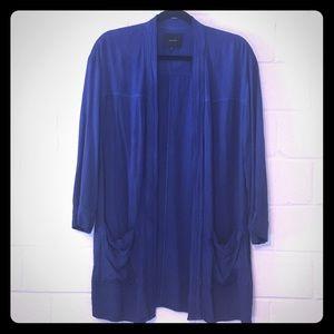 Aritzia Talula Cobalt Draped Kimono Blazer
